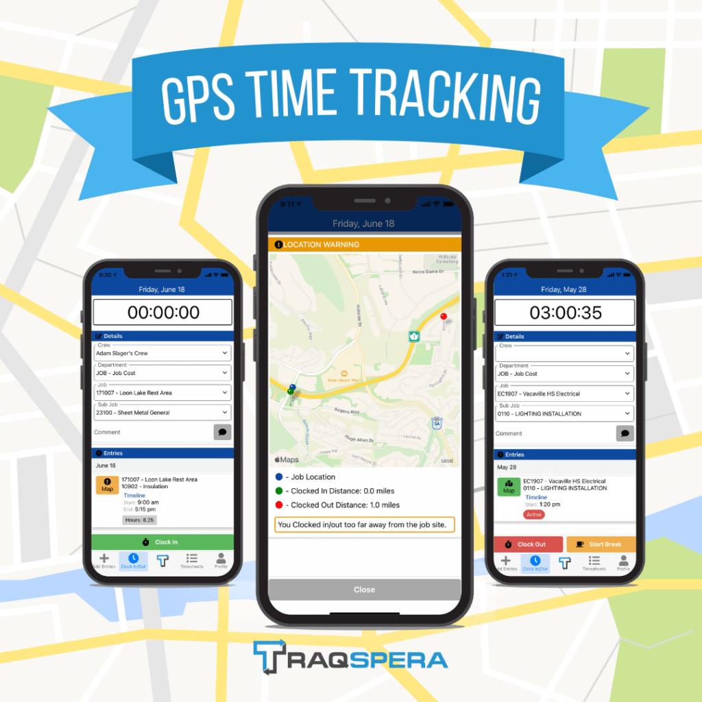 Traqspera GPS Timetracking for Construction businesses.